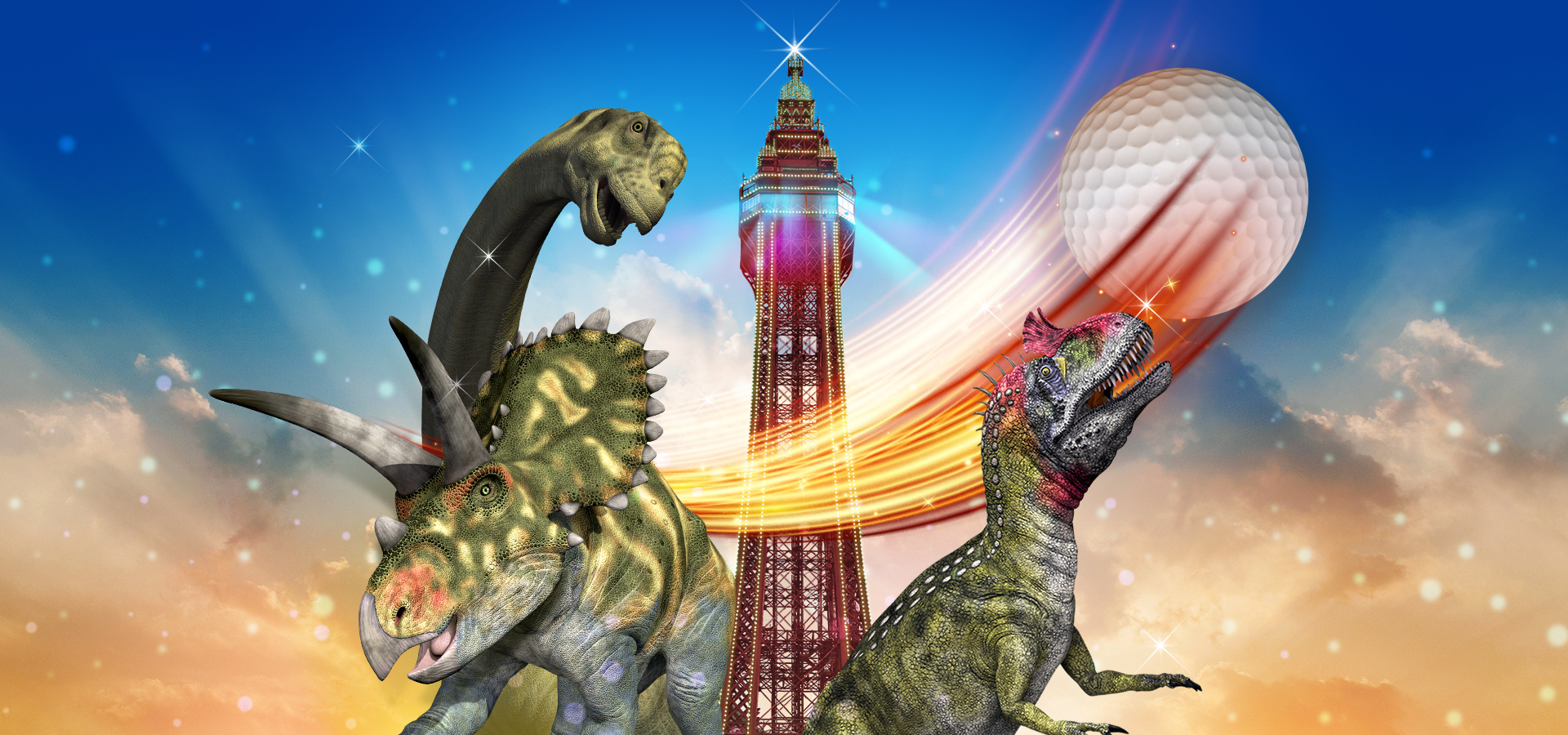 Dino Mini Golf at the Blackpool Tower