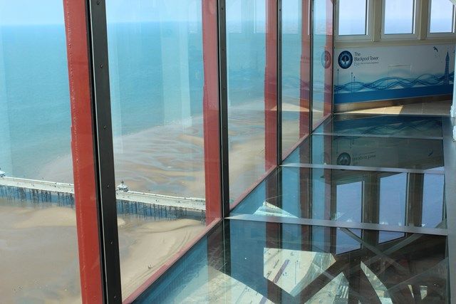 The Glass sky walk at the Blackpool Tower Eye