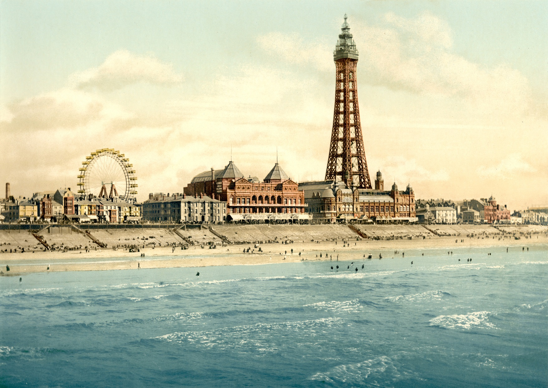 View From North Pier Blackpool Lancashire England Ca 1895