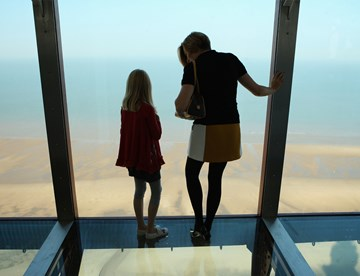 Mother And Daughter at the top of the Blackpool Tower Eye