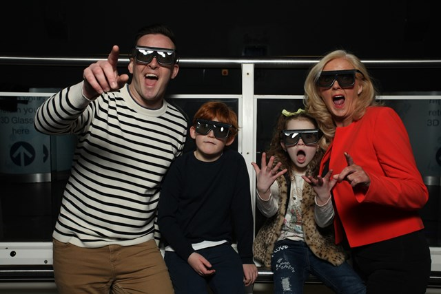 Family at the 4d Cinema at the Blackpool Tower