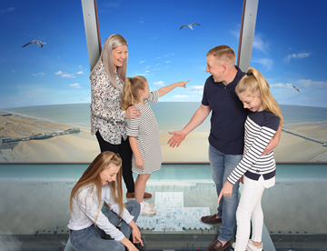 Family at the top of the Blackpool Tower Eye