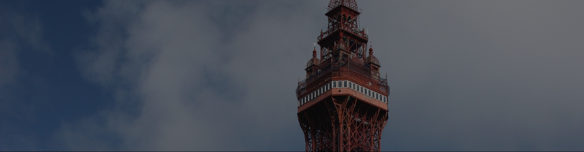 Top of the Blackpool Tower close up