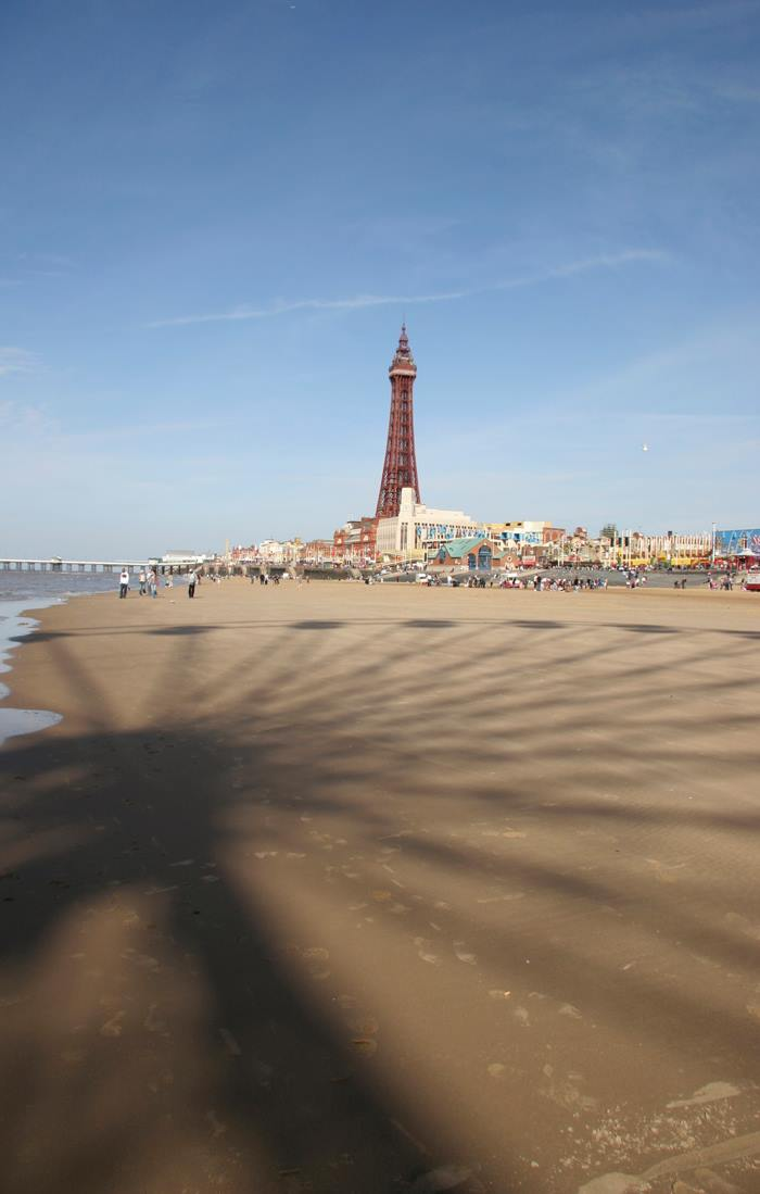 Blackpool Tower Portrait From Far