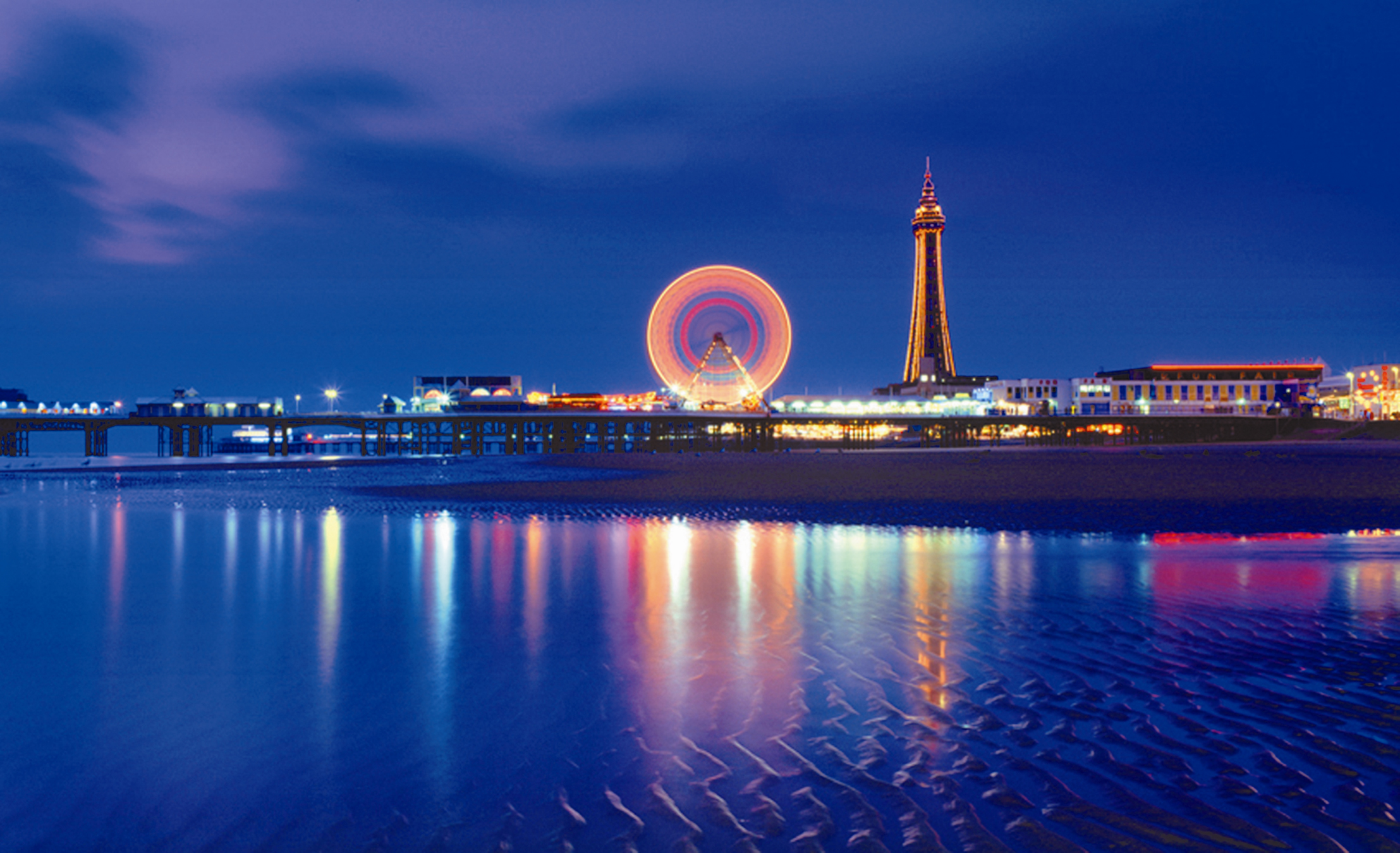 Blackpool Tower Illuminations at Night