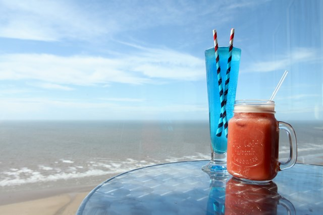 Cocktails at the top of the Blackpool Tower
