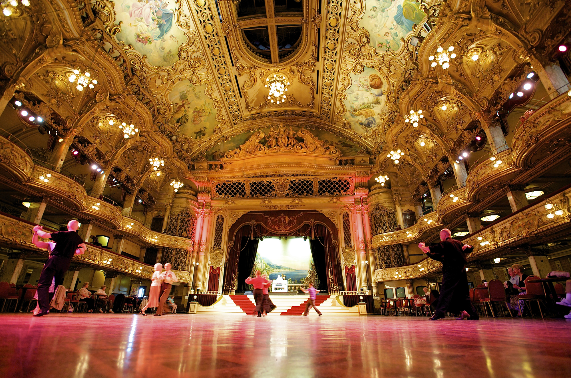 Blackpool Tower Attraction Ballroom With Dancers